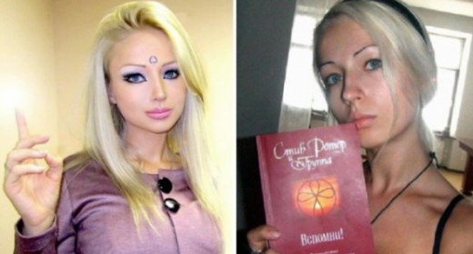 Valeria Lukyanova with and without makeup