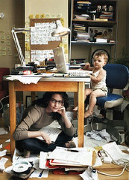 Work at Home Mom -- and Kid (Photo courtesy by AGeekMom from Flickr)