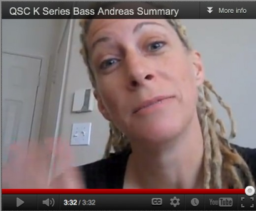 "Andrea gives her pros and cons on the K12 ""Bass Amp"""