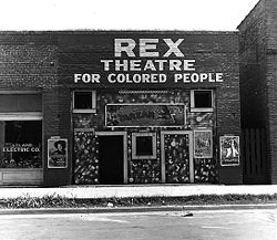 Rex Theatre in Leland, MS. June 1937. (New World Encyclopedia)