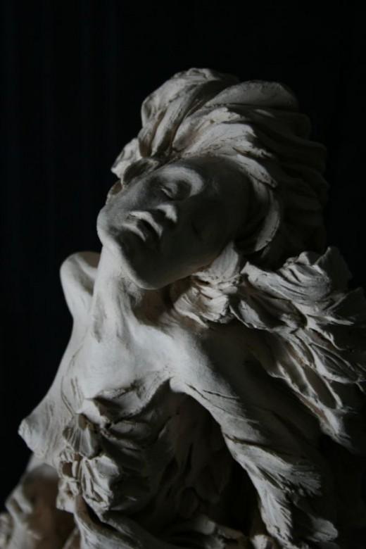 """Detail of my sculpture """"Bleeding Wings 5"""""""