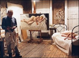 Lucian Freud in His Studio.. Wow!