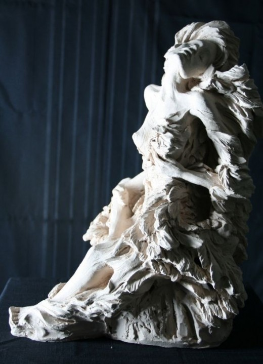 "Sculpture ""Bleeding Wings 5"" by Kathy Ostman-Magnusen"