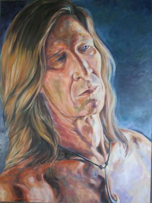 """Mr. Magnusen"" 36x48x2 oil on canvas by Kathy Ostman-Magnusen"