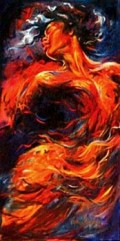 """""""Sunrise"""" (Passion Series) 24x48 oil on canvas by Kathy Ostman-Magnusen"""