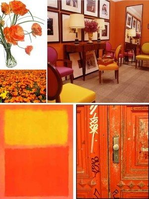 Home Designing with Spicy Orange Hues