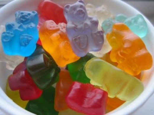 A close up of yummy gummy bears!