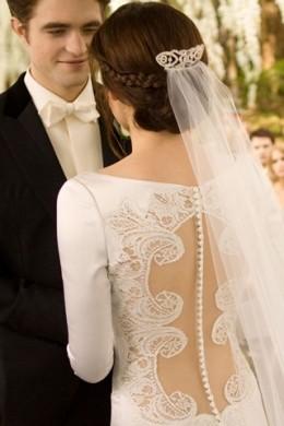 The stunning back on Bella's dress.