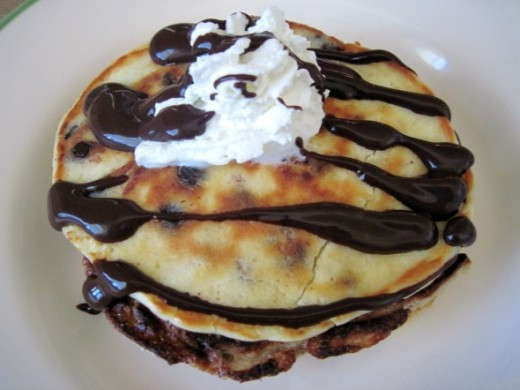 chocolate chip pancakes picture