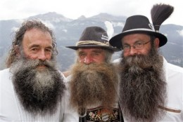"Eouropean Mountain Men, ""The three winners at the Alp Beard contest on Saturday, Aug. 11, 2007 in Chur, Switzerland.""  http://www.daylife.com/photo/0gSfcTxewH4pD"