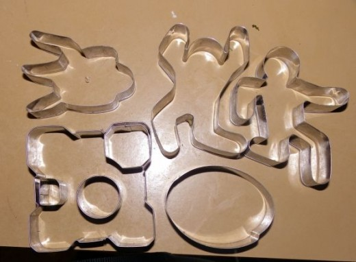 All the cookie cutters in the set.