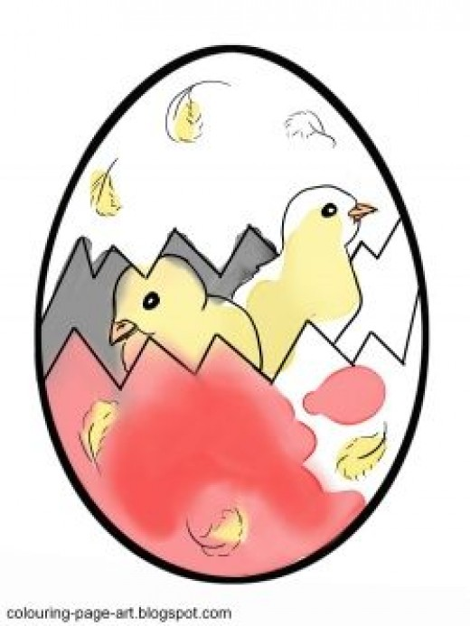 Download the colouring page and finish colouring these chicks and their egg!