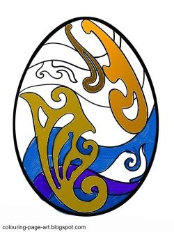 Swirls and curls decorate this Easter Egg!