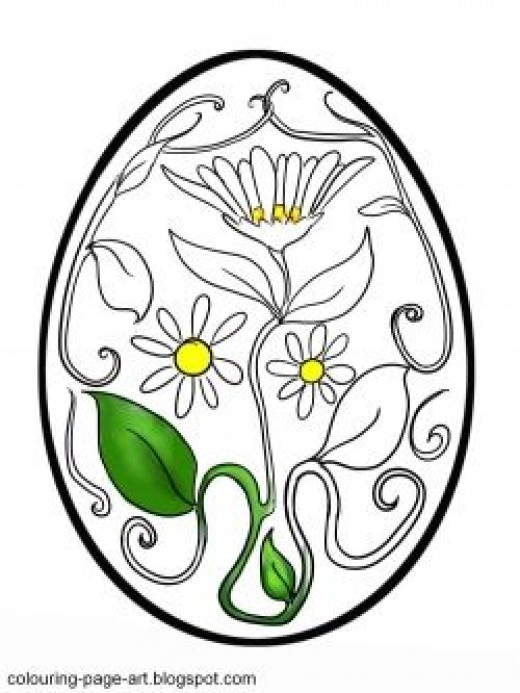 Flowers and vines curl all over this Easter Egg!