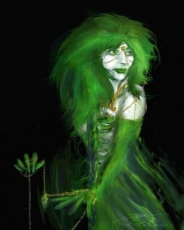 Green Watcher by Flynn the cat