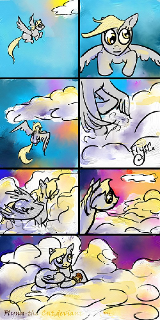 Derpy Clouds Comic by ~Flynn-the-cat