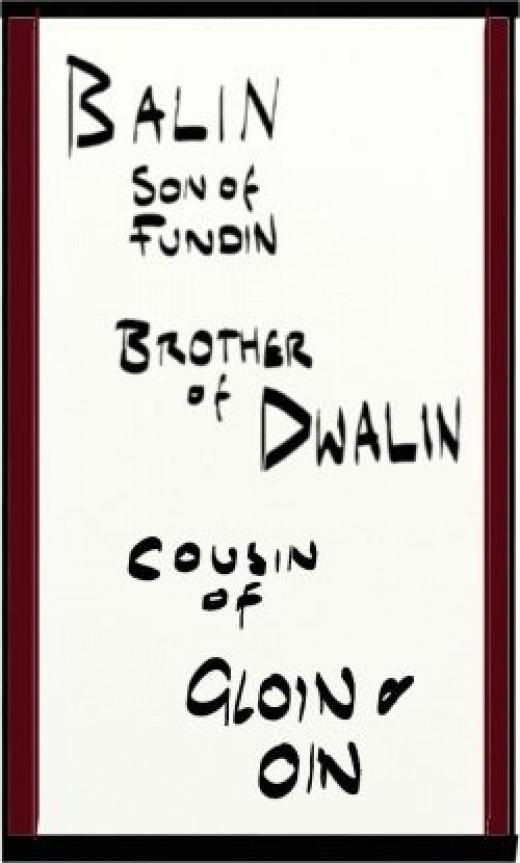 Balin Son of Fundin of Durin's Folk