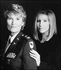 Margarethe Cammermeyer with the producer of Serving in Silence, Barbara Streisand