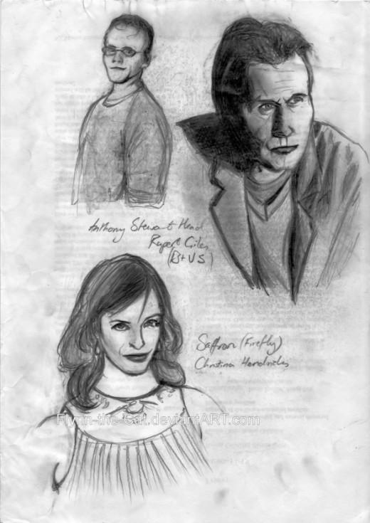 Anthony Stewart Head and Christina Hendricks