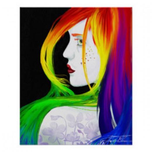 Balance Rainbow Fantasy Poster