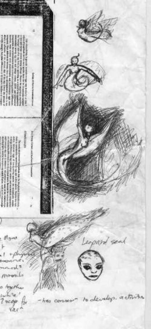 Ballpoint Mermaid Designs