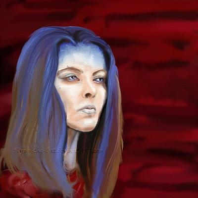 Illyria - sketch-painting by Flynn the Cat (Click through for more Buffy and Angel fan art)
