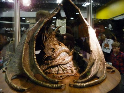 Bronze Statue of Smaug the Dragon