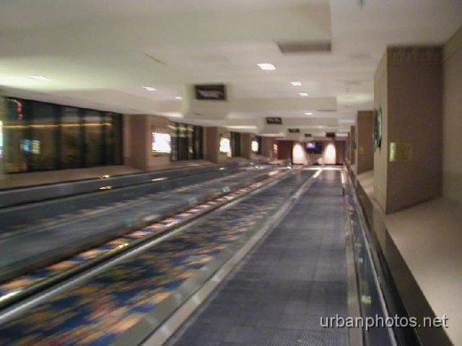 The indoor pedestrian conveyor belt from Luxor to Excalibur.