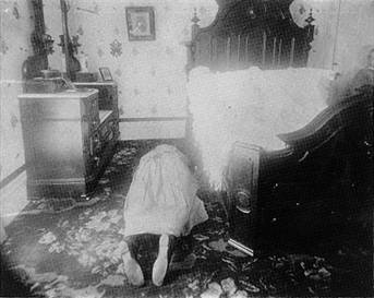 Lizzie Borden's step-mother was the first to give her life to the ax. She was found in an upstairs bedroom.