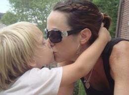 Kiss and hug your kids