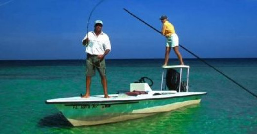 Flats fishing off Key West gets you close to sport fish, eatin' fish, and aquatic life like sea turtles.