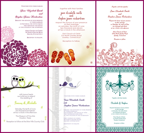 Wedding invitations from Printable Invitation Kits