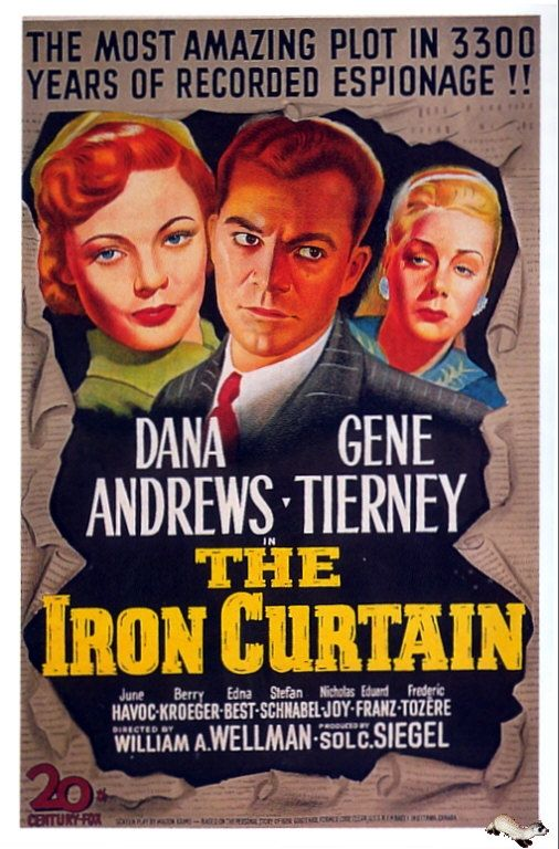 The Iron CurtainThriller,BiographyDana Andrews and Gene Tierney