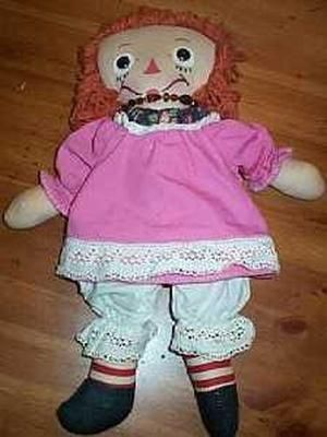 Who didn't have a Raggedy Ann Doll.  I'm not sure when she was first created.  This one is of 1948 vintage, though.  Later the Raggedy Andy dolls were made.