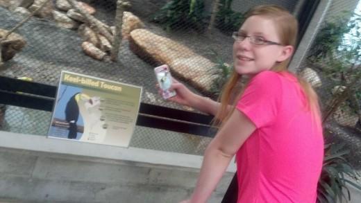 Shaela at the Tracy Aviary