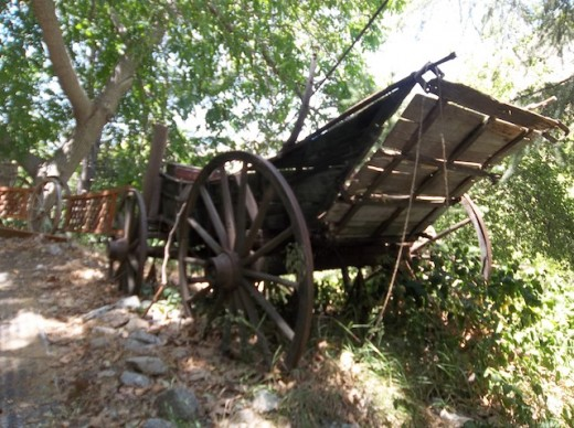 Lytle Creek, California.  You can see why they quit using this wagon.