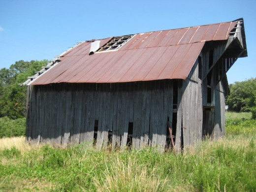 Old barn in the Strickler Arkansas area.