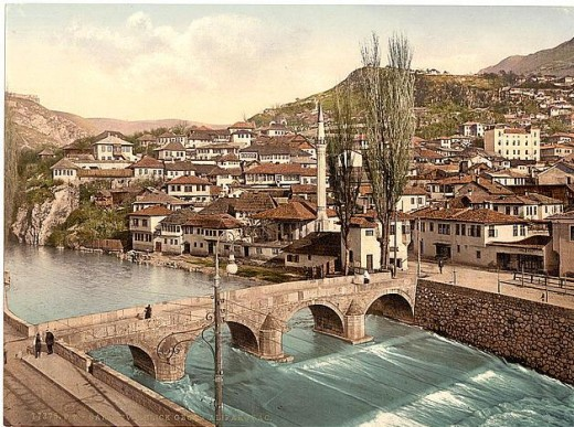 Sarajevo, Looking Toward Alifakovak, Bosnia  (Photo courtesy of U.S. Library of Congress, Prints & Photographs Division, reproduction number,[LC-DIG-ppmsc-09311])