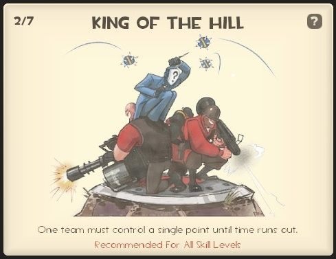 King of the Hill - The aim is to control a single point on the map for a certain amount of time.