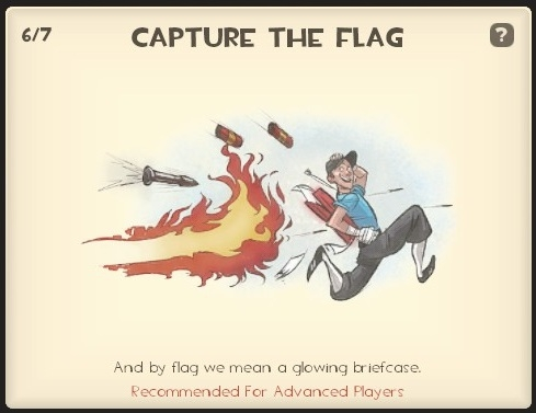 Capture the flag - Each team must capture the enemy's briefcase of intelligence.