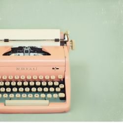 Honestly, if I had a pink typewriter I don't think I would ever stop writing!
