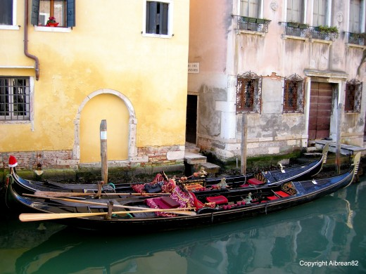 The classic Venice photo - the gondolas!