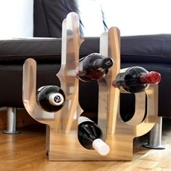 Stainless steel cactus wine rack