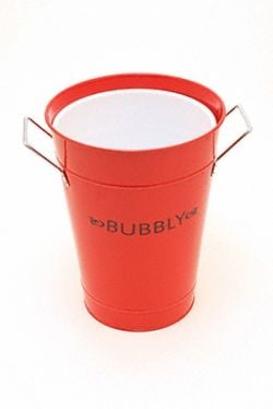 Red enamel champagne bucket