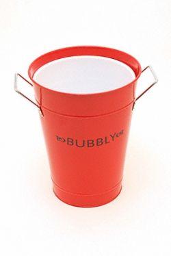 Red enamel champagne bucket