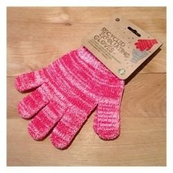 Recycled PET Exfoliating Gloves - Red