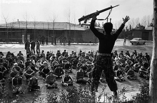 A Guerilla commander inspiring his subordinates