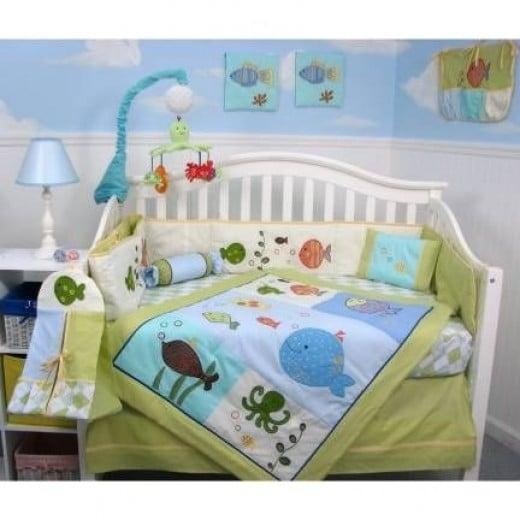 Gold Fish Aquarium Baby Crib Bedding