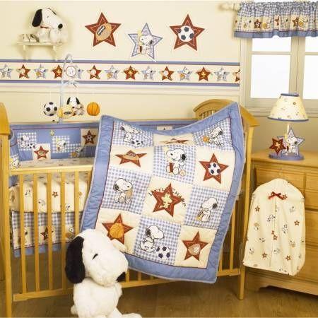 Bedtime Originals Champ Snoopy 4-Piece Baby Crib Bedding Set