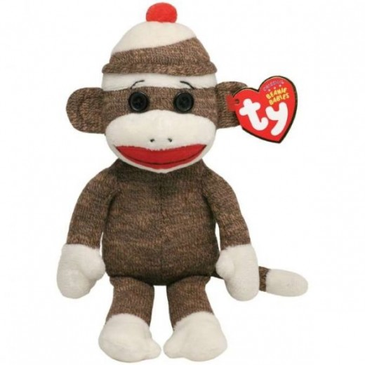 Sock Monkey Beanie Babies